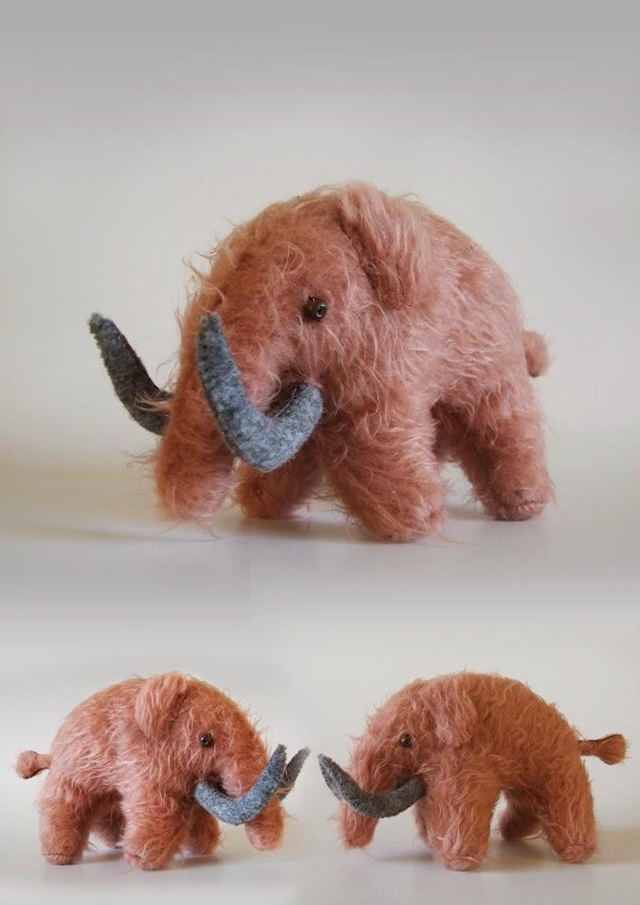 Handmade mamooth toy