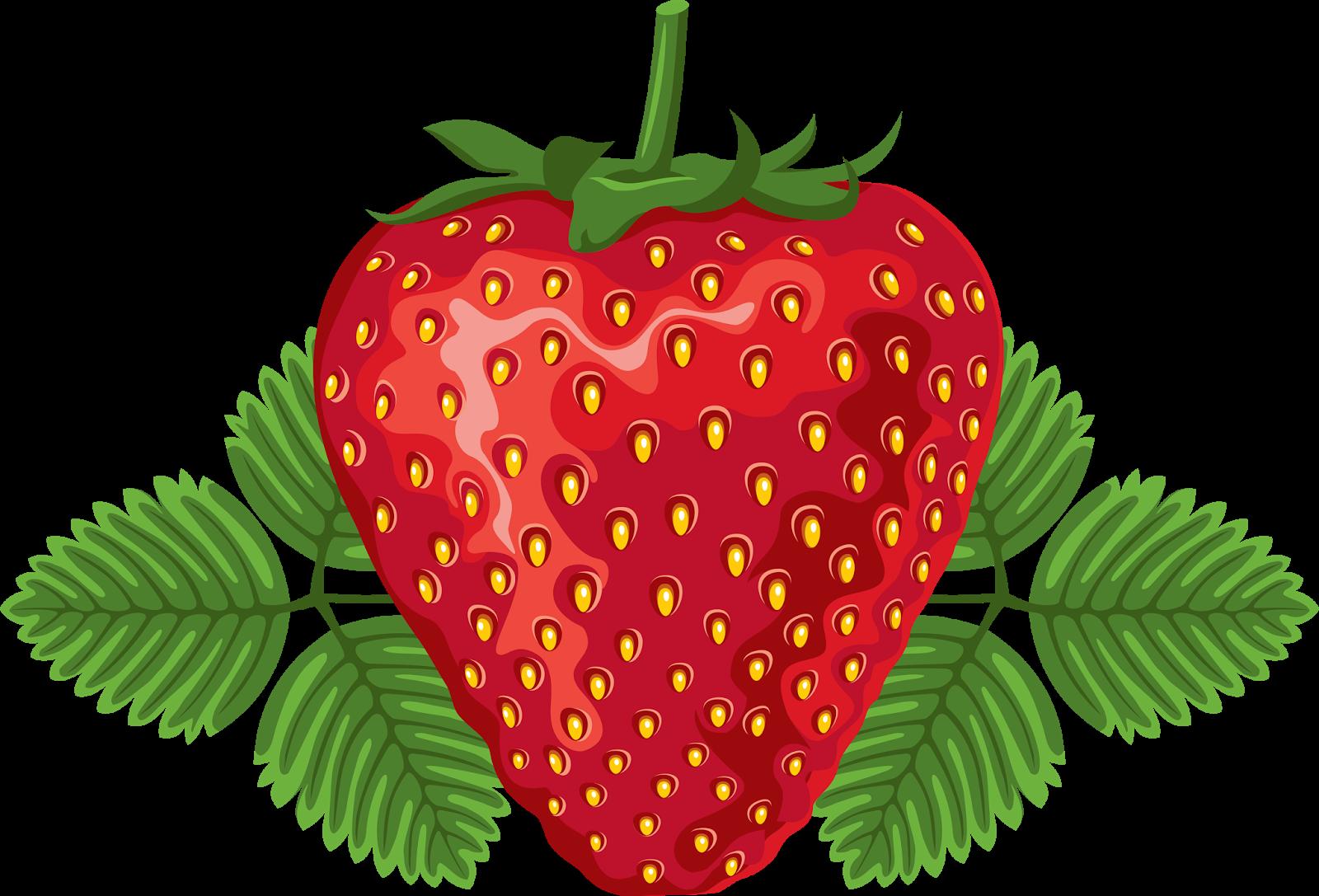 contoh ketiga pilihan warna mewarnai gambar buah strawberry