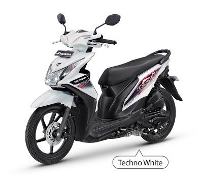 New Honda Beat Injeksi Putih