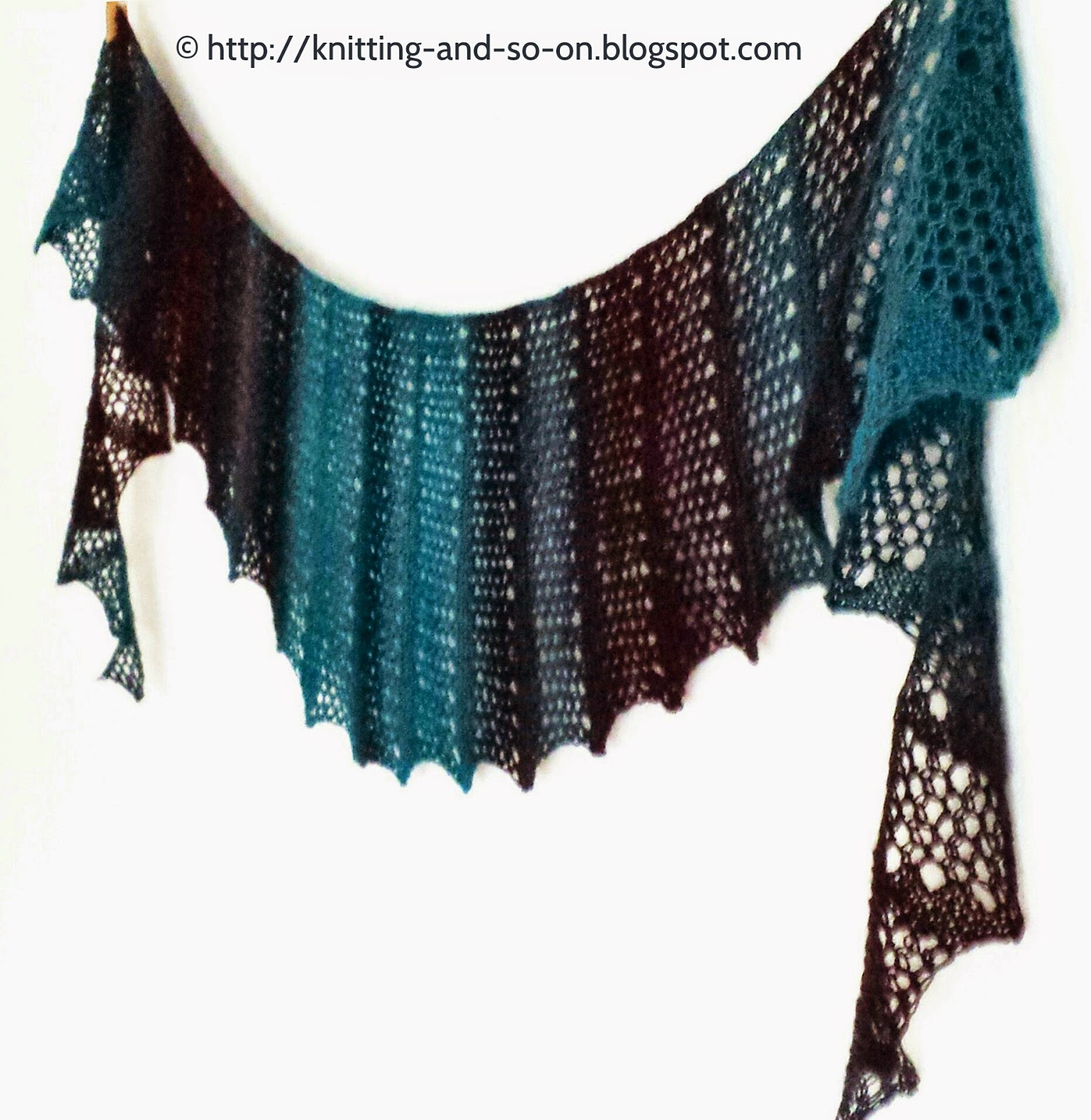 Free Knitting Pattern For Short Row Scarf : Knitting and so on: Seifenblasen Lace Scarf