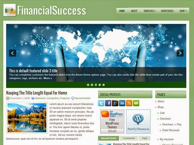 FinancialSuccess - Free Wordpress Theme