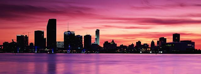 Beatiful Purple City Of The World