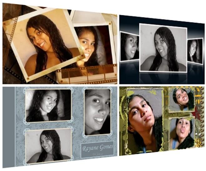 colagem de fotos com molduras