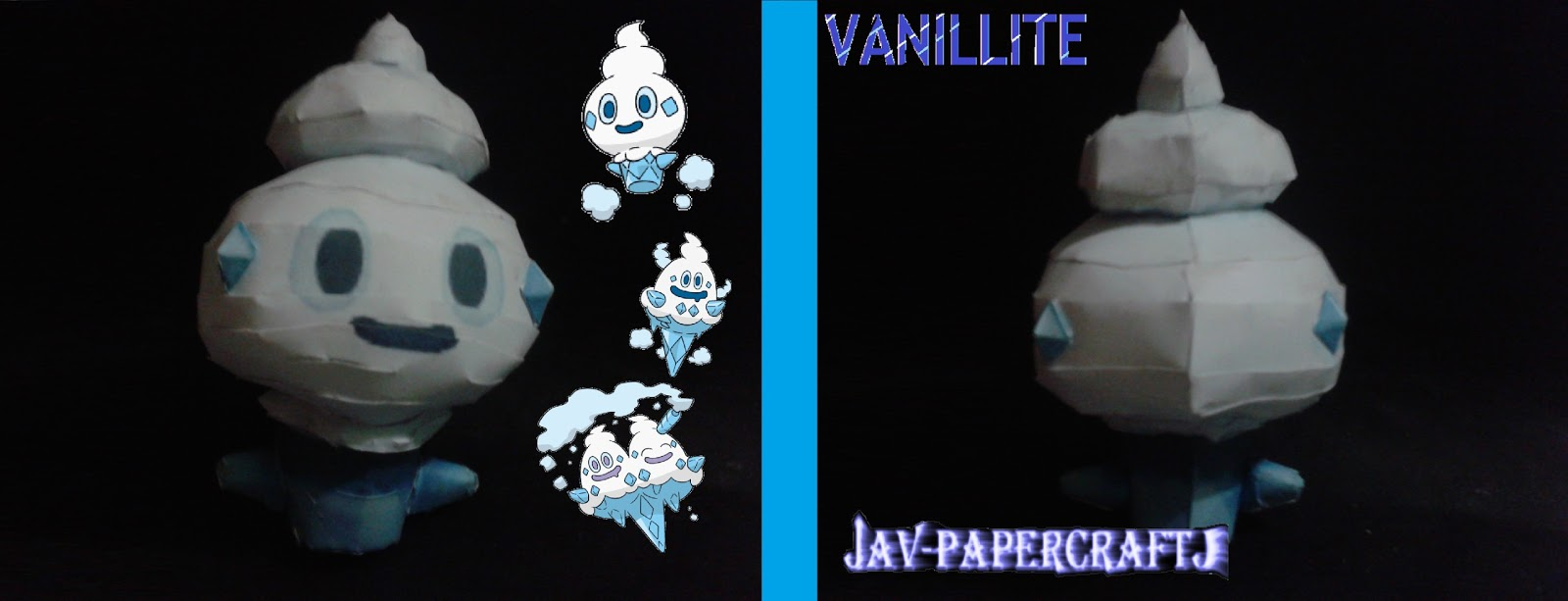 Pokemon Vanillite Papercraft