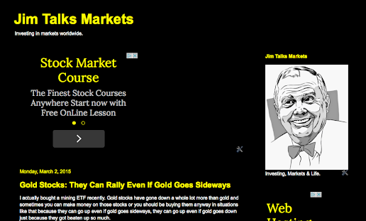 Visit the NEW WEBSITE: Jim Talks Markets
