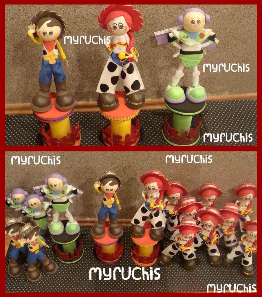 Myruchis arreglos de mesa infantiles personajes de toy story