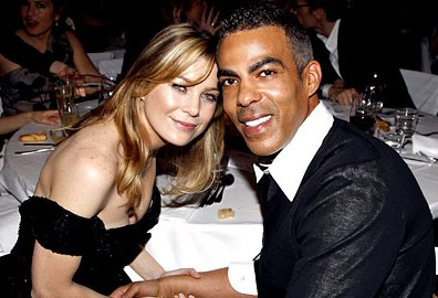 Ellen Pompeo marriage Christopher Ivery wearing black YSL wedding dress