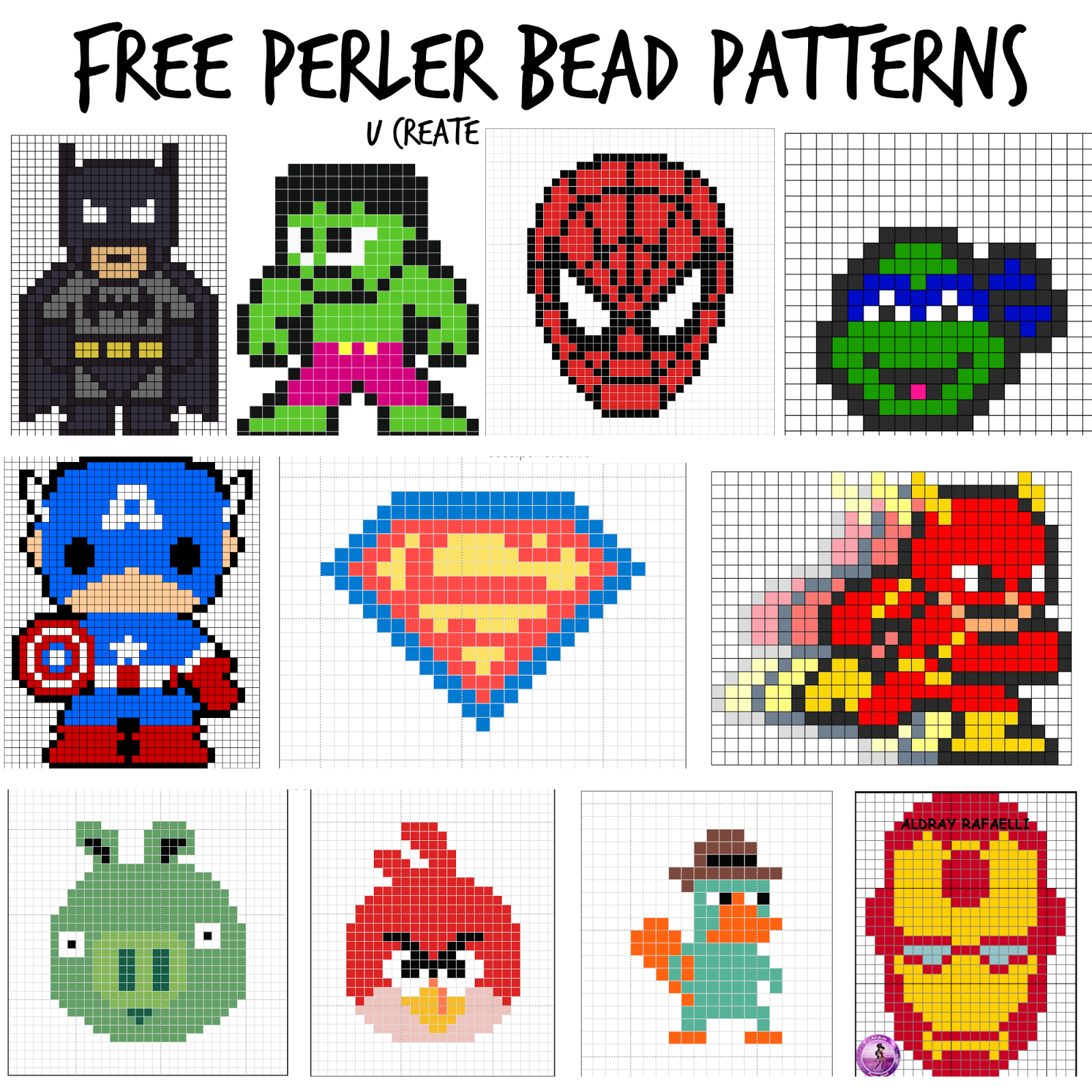 It's just a picture of Modest Free Perler Bead Patterns