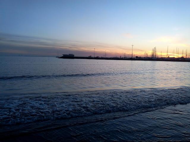 royan mer soleil couchant plage