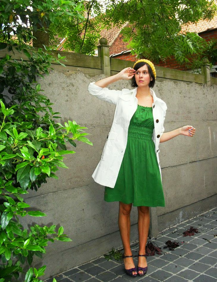 summer outfit zara green smock grecian dress