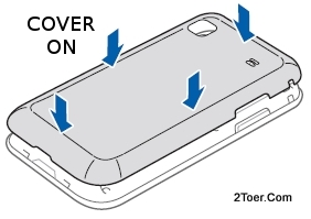 Attach Cover Back on Samsung Galaxy S Plus GT I9001 Case