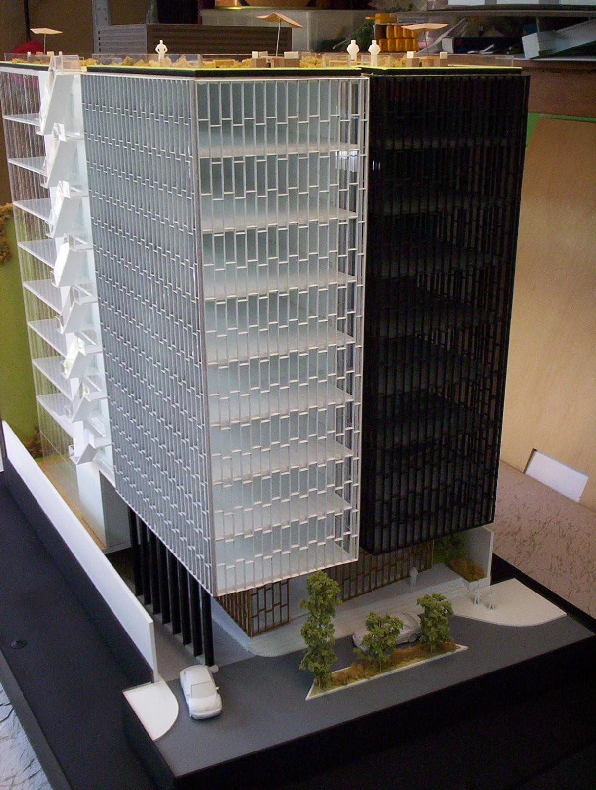 Maqueta de edificio de oficinas for Maquetas de apartamentos modernos