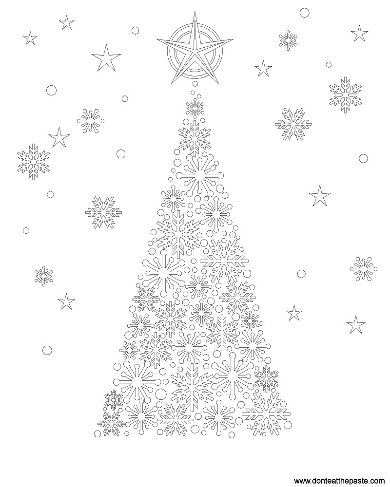 don u0027t eat the paste snowflake tree coloring page