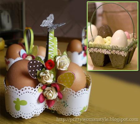 Великденски кошнички от кори за яйца