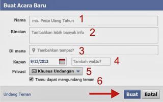 Cara Membuat Undangan Acara / Event Facebook