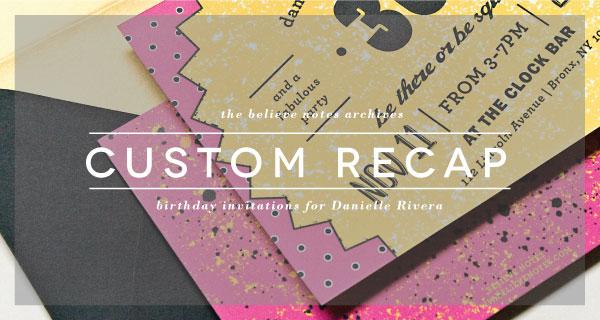 Believe Notes Custom Recap