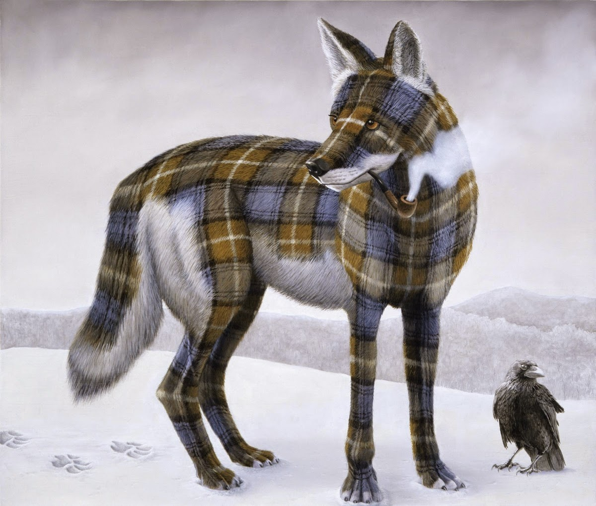 04-Sean-Landers-Animals-Coat-of-paint-in-Place-of-a-Coat-of-Fur-Paintings-www-designstack-co