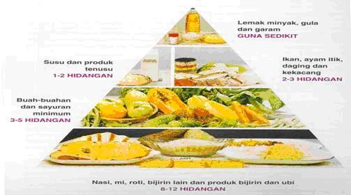 Gaya Hidup Sihat Piramid Makanan