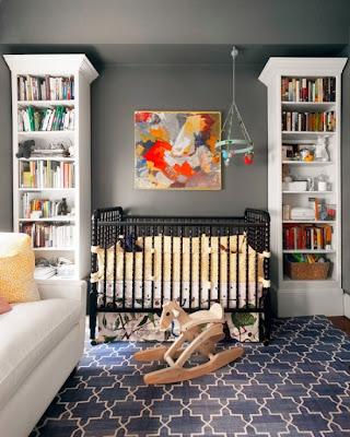 habitación de bebé en gris