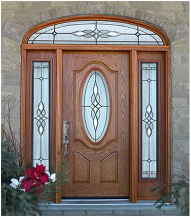 Entry doors with sidelights fiberglass entry doorways for Fiberglass entrance doors