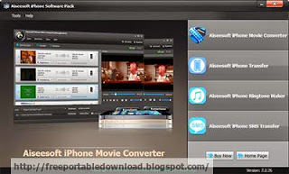 Aiseesoft iPhone Software Pack can convert any movie to MP4, MOV, H.264, MP3, M4A, formats for iPhone
