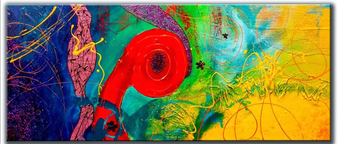 "Abstract Painting ""Positive Energy 2"" by Dora Woodrum"