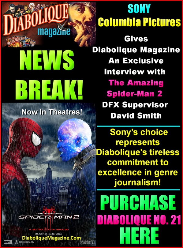"EXCLUSIVE Interview With ""The Amazing Spider-Man 2 DFX Supervisor David Smith"