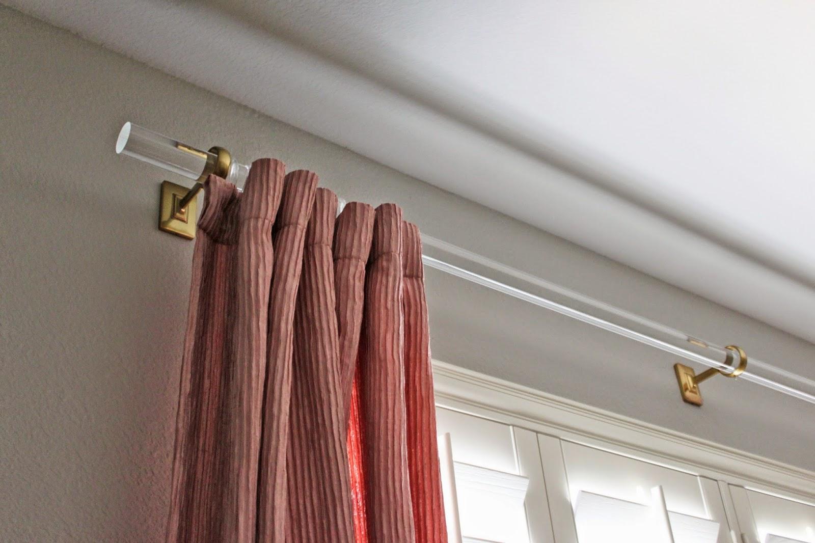 gold curtain rod