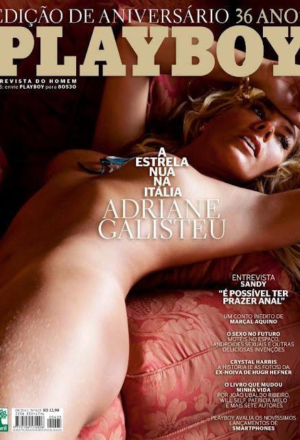 Confira as fotos da estrela da Tv, Adriane Galisteu, capa da Playboy Especial de 36º aniversário, agosto de 2011!