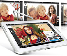 Samsung galxy note 10.1 con photoshop