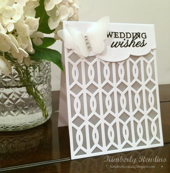 white wedding card | vellum | kimpletekreativity.blogspot.com
