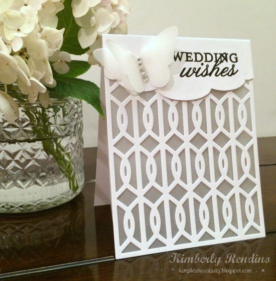 white wedding card | vellum | kimpletekreativity.blogspot.com