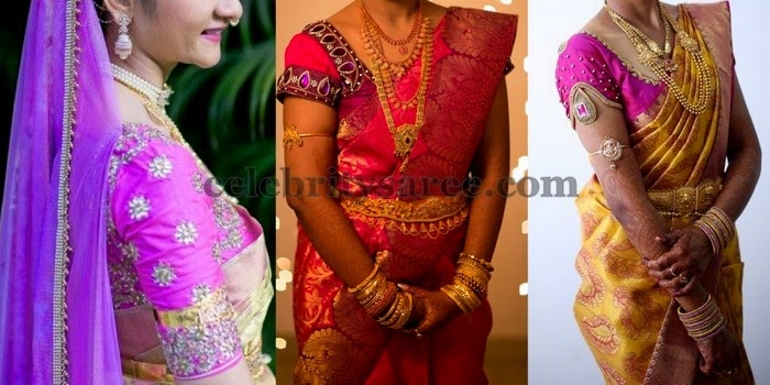 South Indian Brides in Designer Blouses