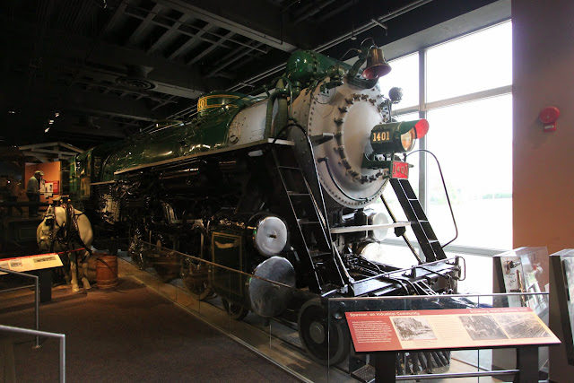 Old locomotive to transport goods at National Museum of American History in Washington DC, USA