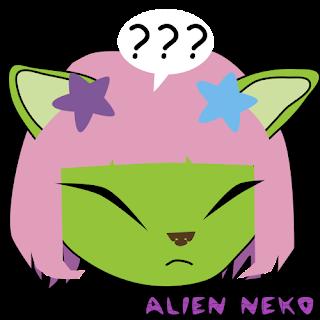 respond alien neko emoji
