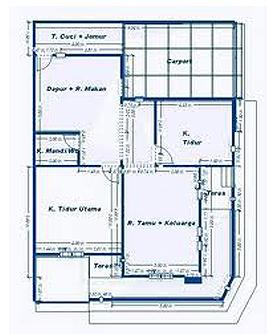 gambar gambar denah rumah sederhana ruangan di rebanas