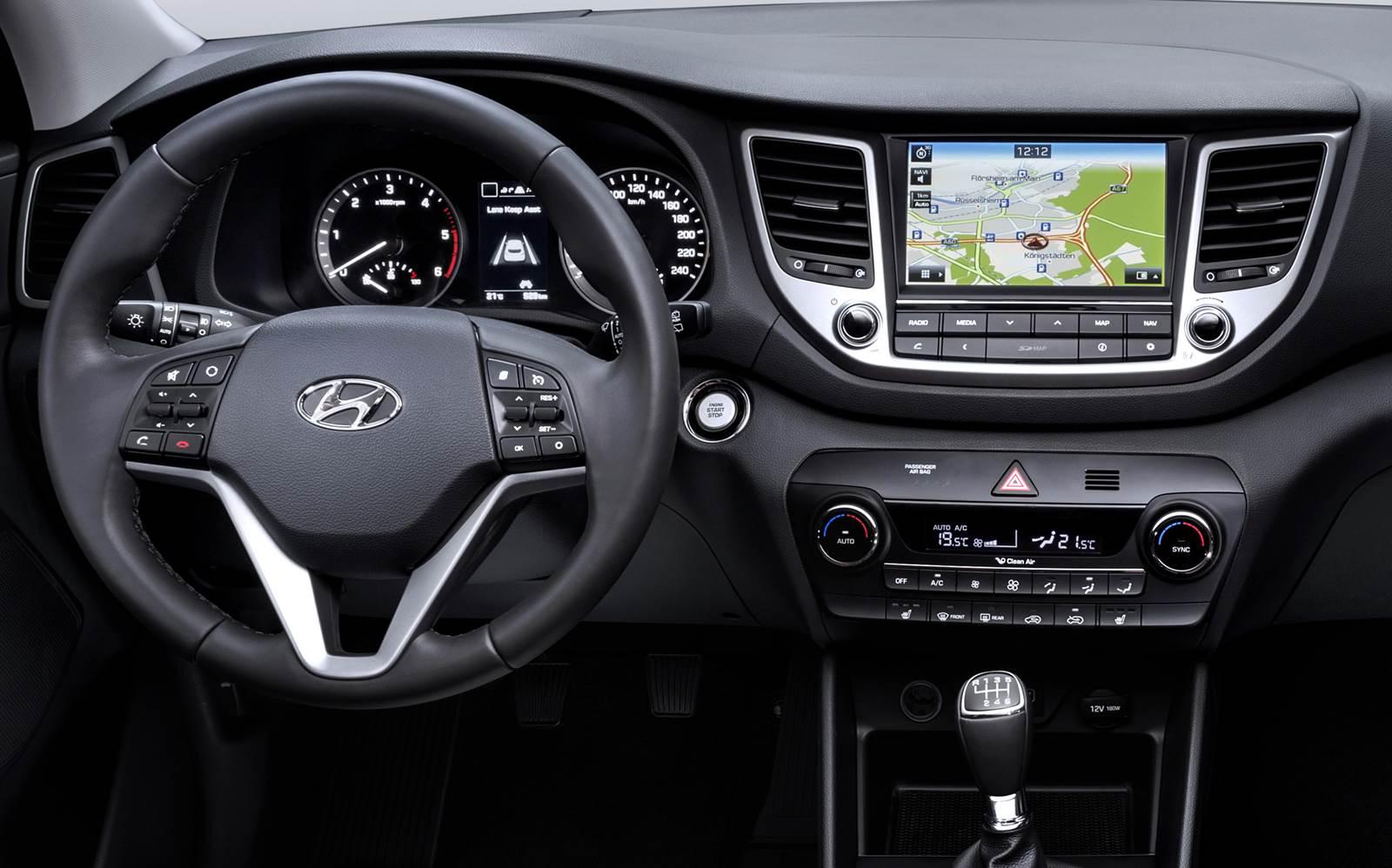 Novo Hyundai Tucson 2016 -painel