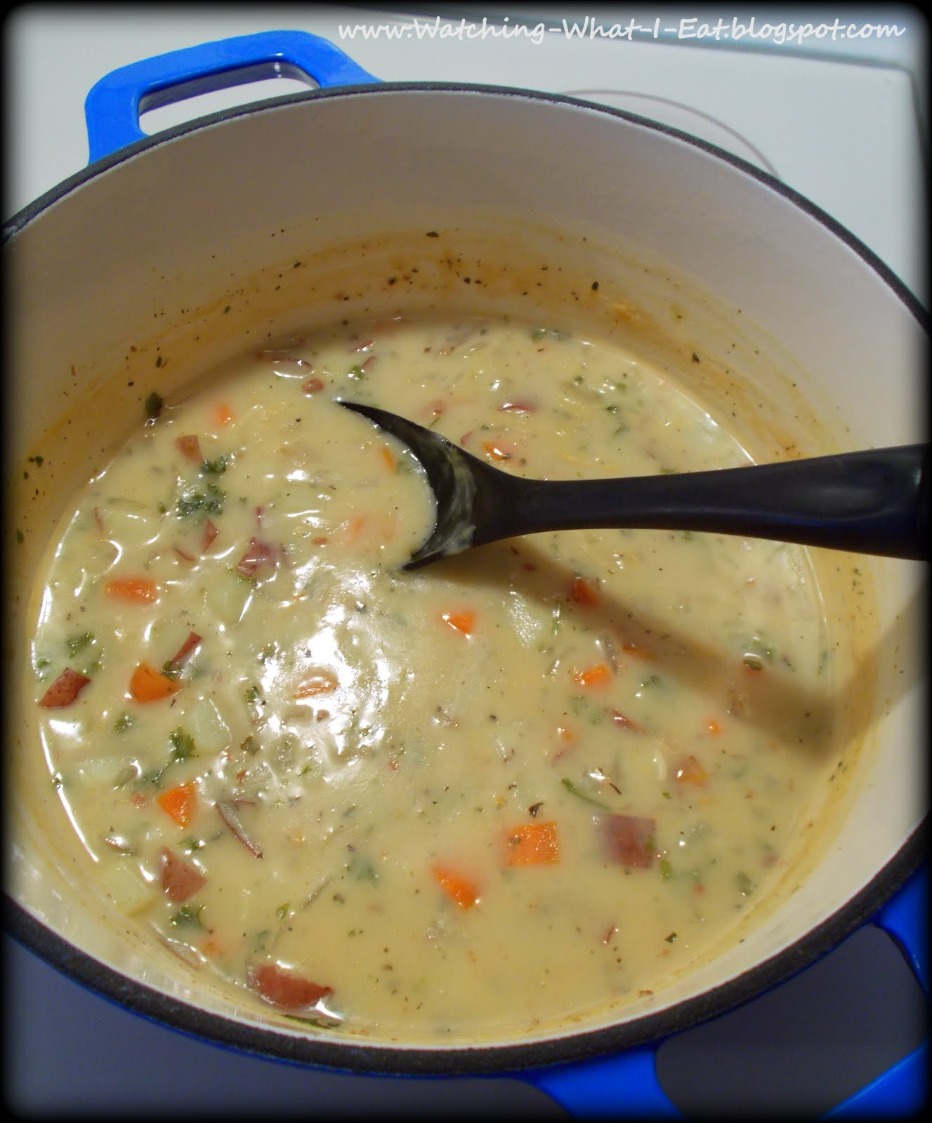 Watching What I Eat: 3-2-1 Red Potato Soup ~ low fat & creamy tasting!