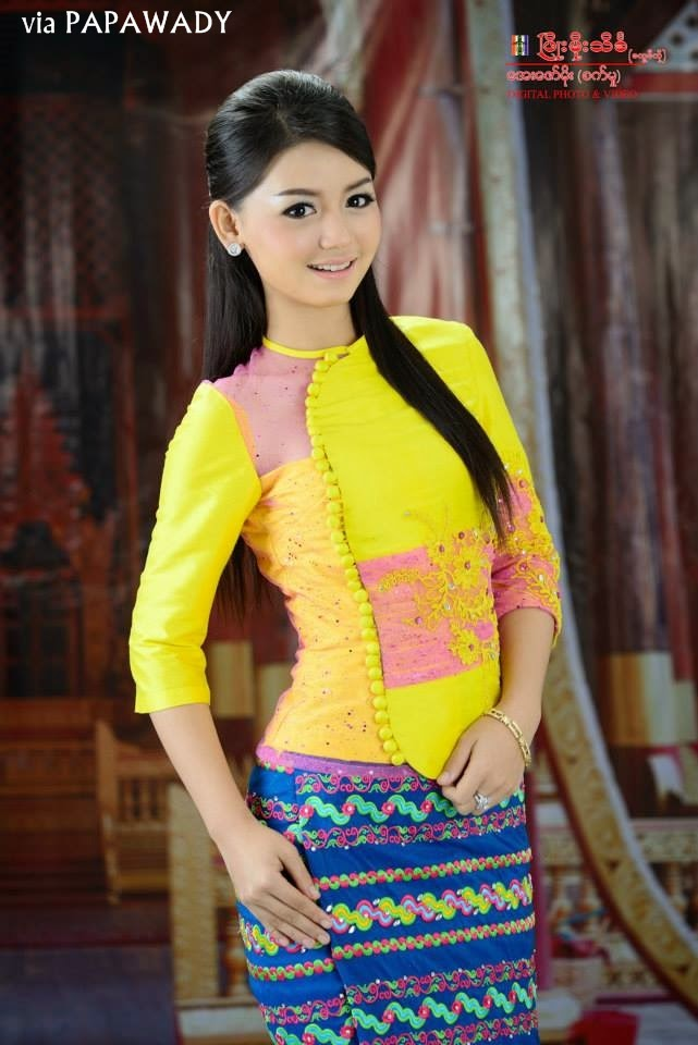 Myanmar Dress | Myanmar Dress (Oneset Design) | Pinterest | Dresses