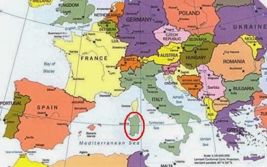 Карта. Сардиния
