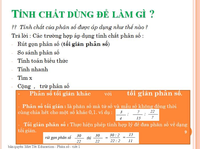 Bài tập phân số toán lớp 5 - rút gọn phân số(9)