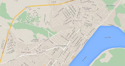Mapa centro Altamira Pará