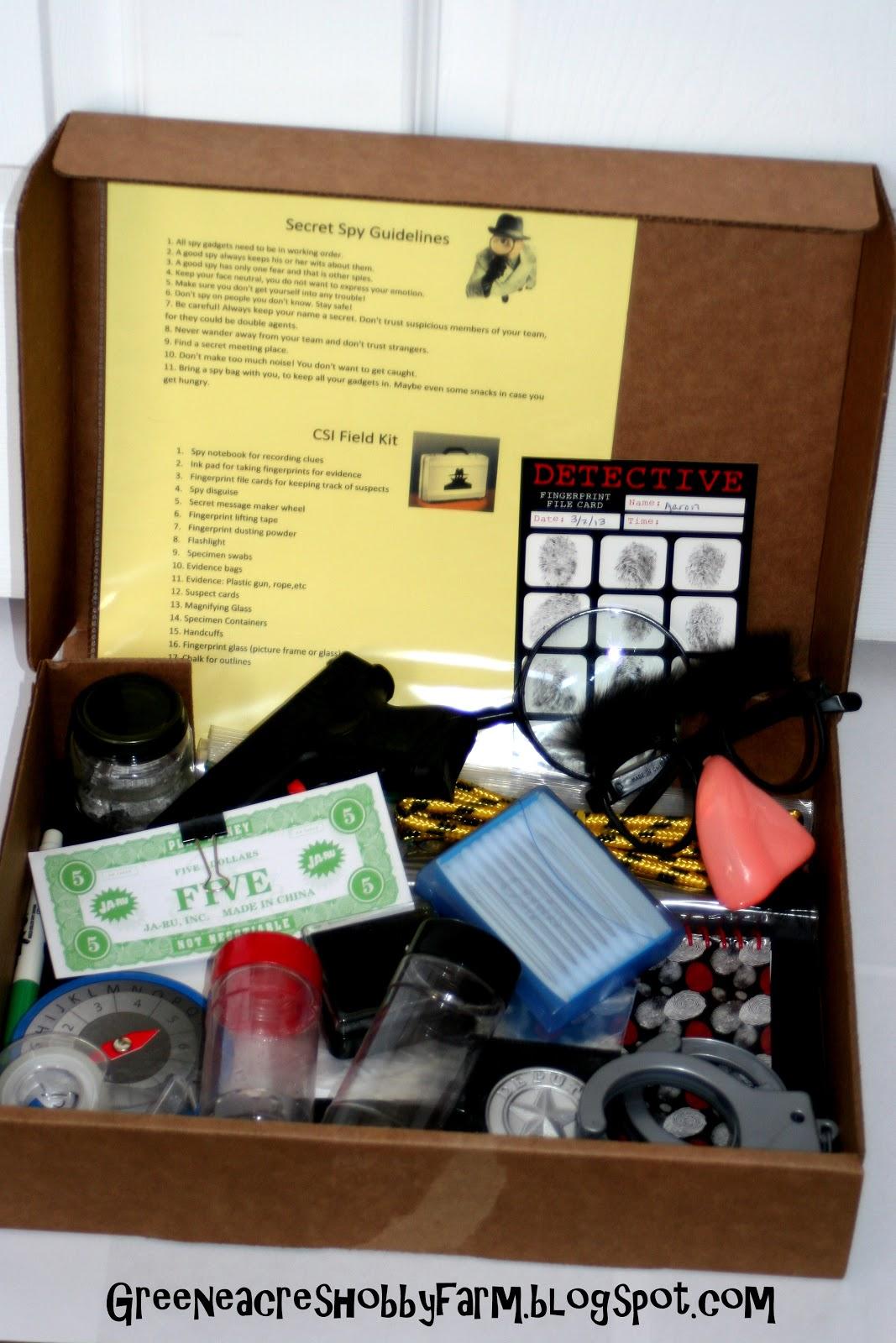 greene acres hobby farm diy secret agent spy kit game. Black Bedroom Furniture Sets. Home Design Ideas