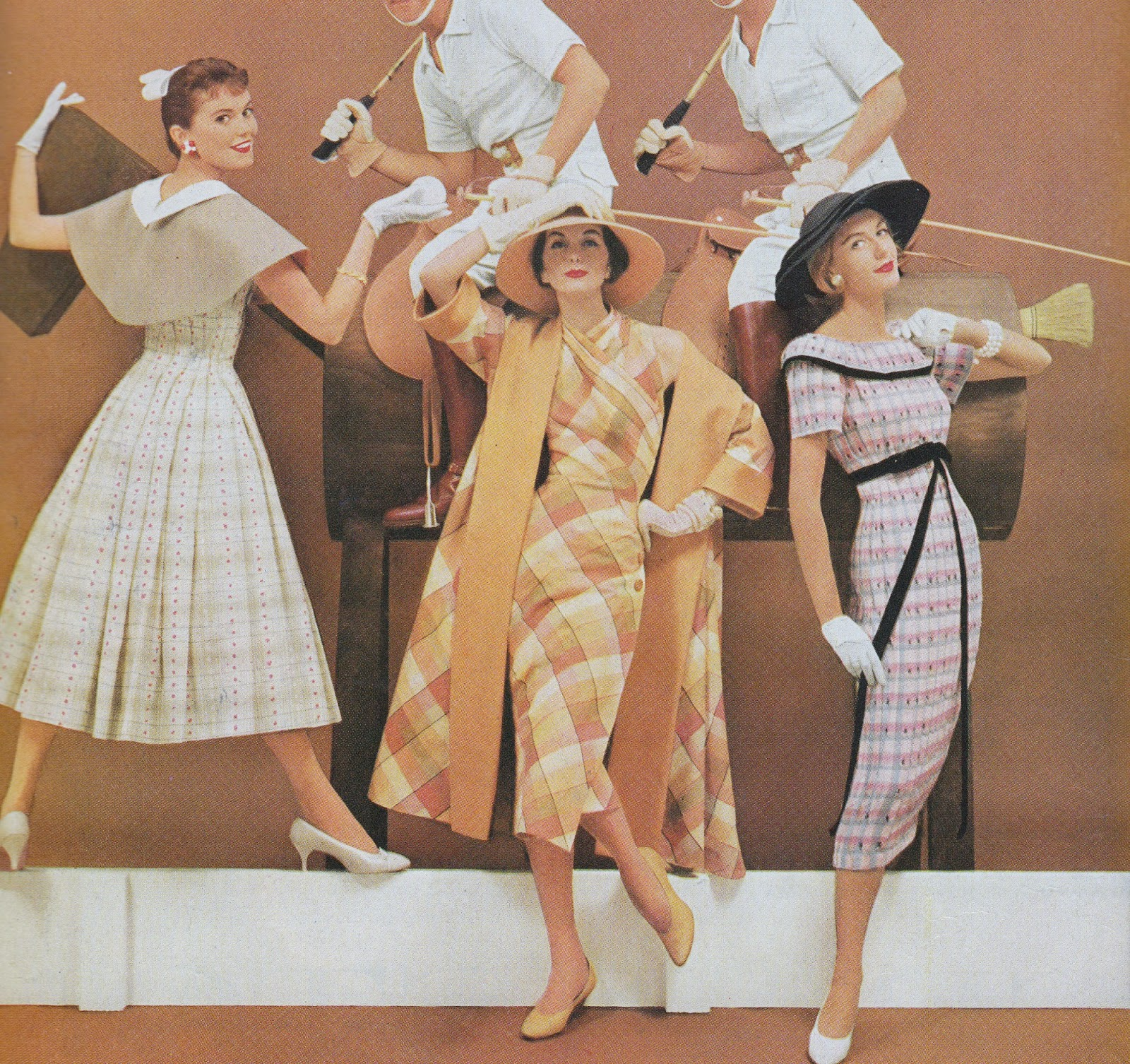 Love Fashion Love Vintage Fashion Wonder In Exciting New Fabrics Vogue 1957 Style