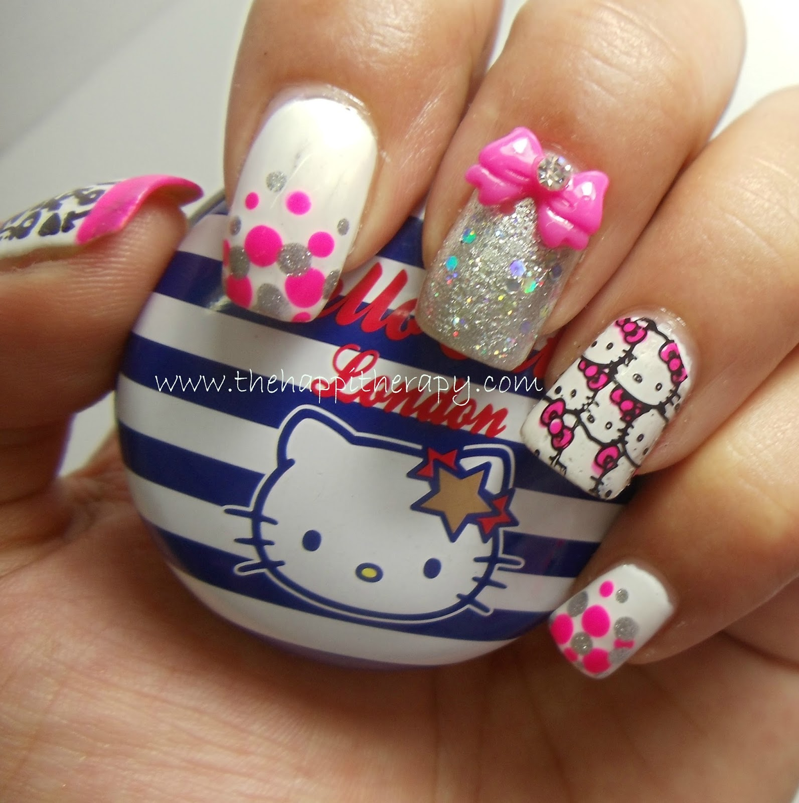 Manishas followmanimatters hello kitty nail art by dhara from hello kitty nail art by dhara from thehappitherapy prinsesfo Image collections