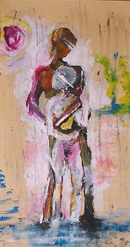 coppia innamorati dipinti pittura orme magiche quadro dipinto disegno pittura spirituale arte zen