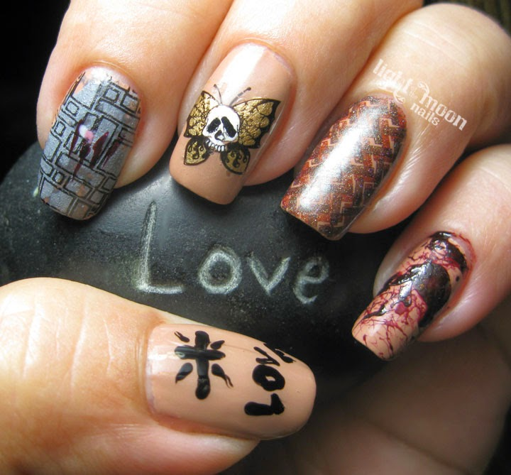 light of the moon nails buffalo bill nail art. Black Bedroom Furniture Sets. Home Design Ideas