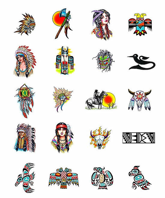Native American Indian Symbols Tattoos