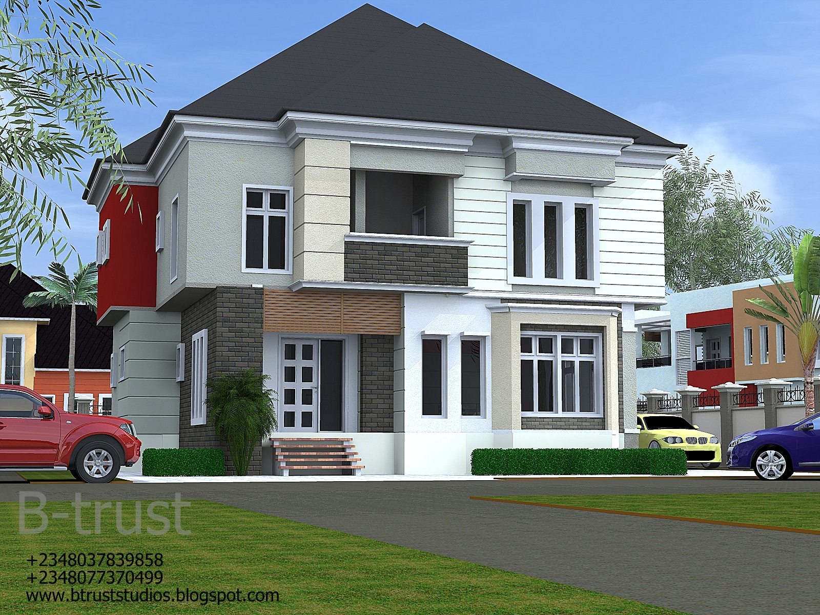 Architectural designs by b trust studios 5 bedroom duplex for 5 bedroom duplex