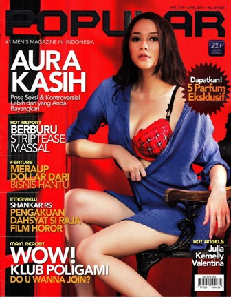 Download Majalah Ebook  Popular-World No.279 Edisi April 2011 Cover Aura Kasih | www.insight-zone.com